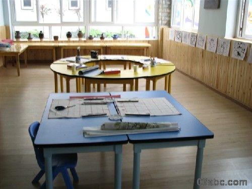 幼儿园区角布置图片:美工区美劳区图片