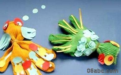 幼儿园亲子手工制作:漂亮的手套娃娃