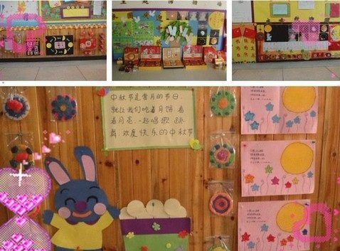 中秋节墙面/幼儿园中秋节主题墙  参观完月饼制作,幼儿将制作月饼的