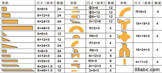 348件实心原木建构大积木(幼儿园大班中班适用)