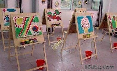 幼儿园活动区布置:美工区(公共美术室)-区角环境布置图片