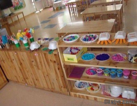 幼儿园活动区布置:美工区图片