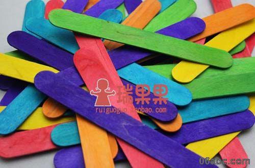 雪糕棒/冰棍/木条木棒早教建筑模型/幼儿手工diy材料