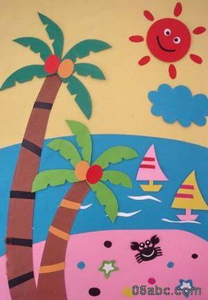 幼儿园纸工作品-手工-图片