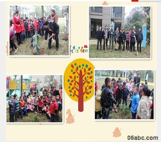 记雍景苑幼儿园种植班级树活动