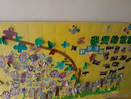 幼儿园春天主题墙设计-幼儿园主题墙-图片
