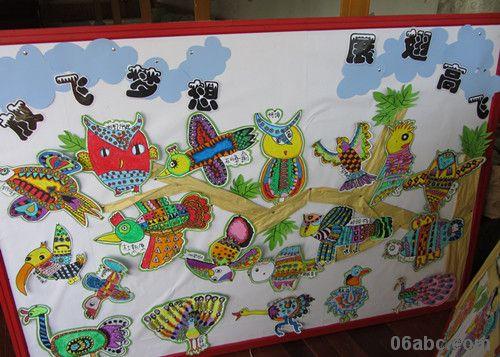 蜡笔画、彩笔画、折纸、叠纸、粘贴等.一幅幅童趣盎然的作品高清图片