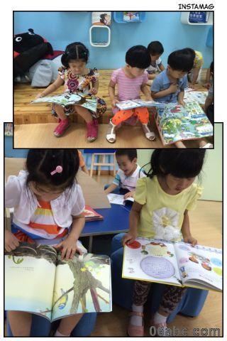 荣安琴湾幼:一群爱看书的小朋友
