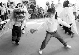 沈一幼儿园迎奥运武术比赛比出武林小盟主
