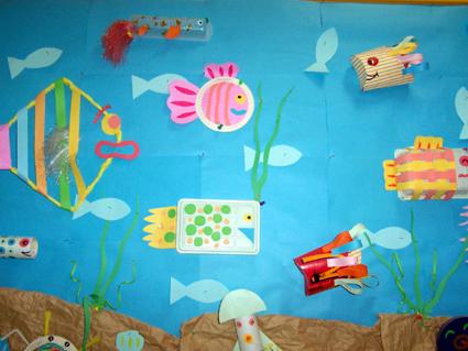 幼儿园主题墙饰图片:海底世界4