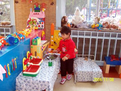 幼儿园环境布置:娃娃家3