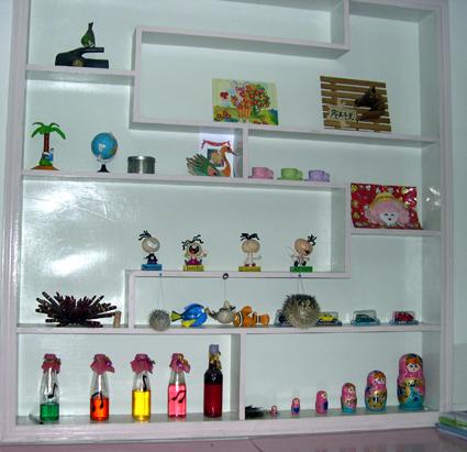 幼儿园手工制作:手工展示区