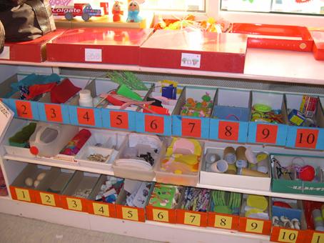 幼儿园区角布置: 活动区材料
