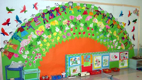 幼儿园环境布置 美工区2