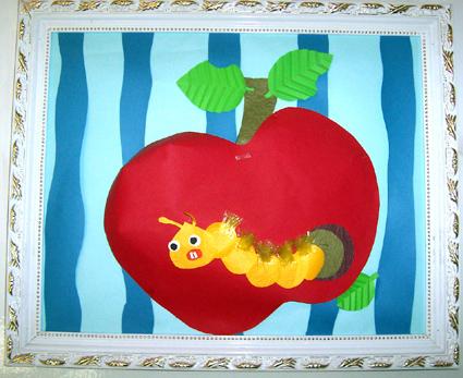 幼儿园手工制作:纸工装饰画2