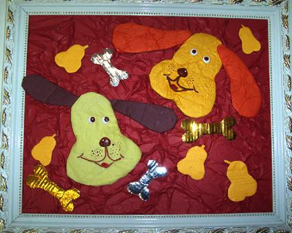 幼儿园手工制作:纸工装饰画3