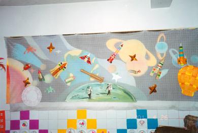 幼儿园主题墙布置:太空