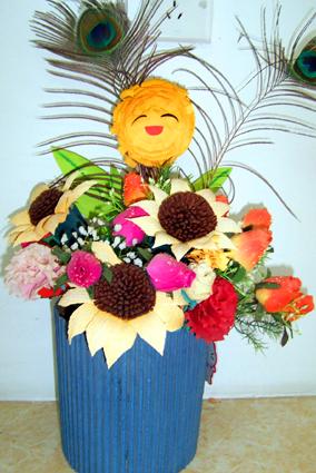 幼儿园手工制作:插花