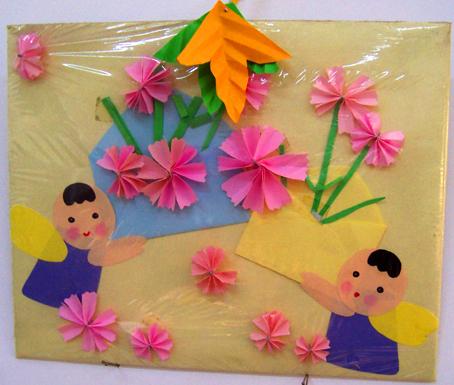 幼儿园手工制作:纸工装饰画5