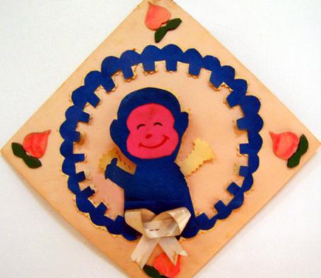幼儿园手工制作:纸工装饰画6