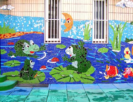 幼儿园环境布置:户外墙面装饰1