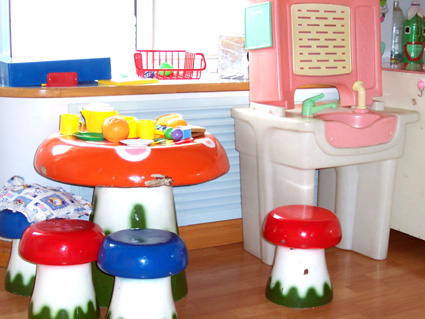 幼儿园活动区布置:娃娃家2