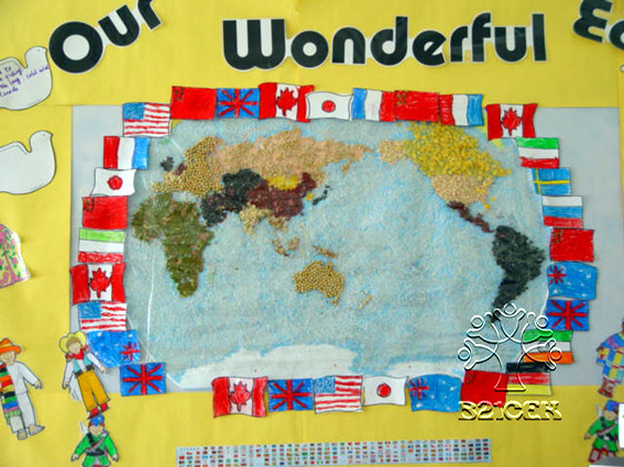 幼儿园主题墙饰:祖国