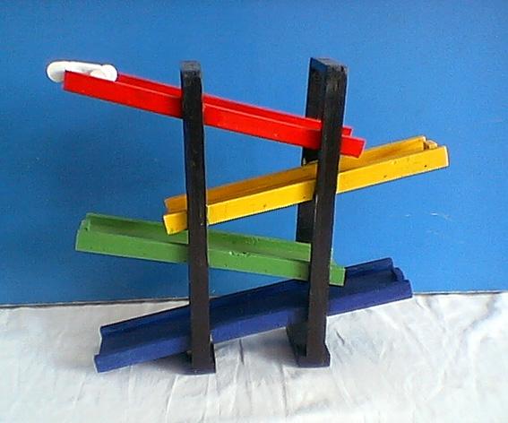 幼儿园手工制作:滑板车