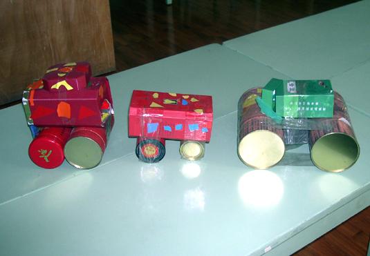 幼儿园玩教具制作:小汽车