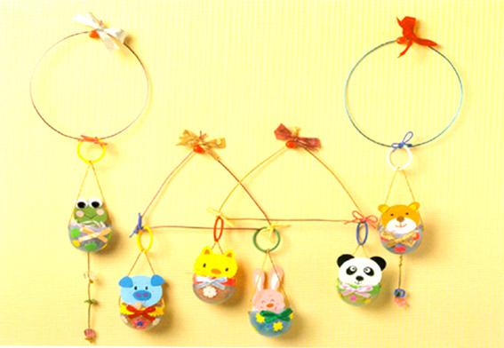 幼儿园玩教具制作:动物吊环
