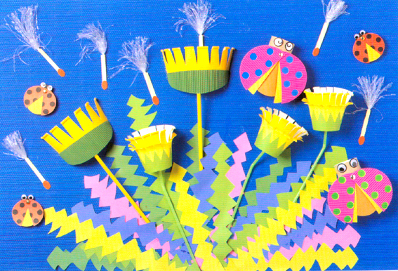 幼儿教师自制玩教具:纸杯蒲公英图片