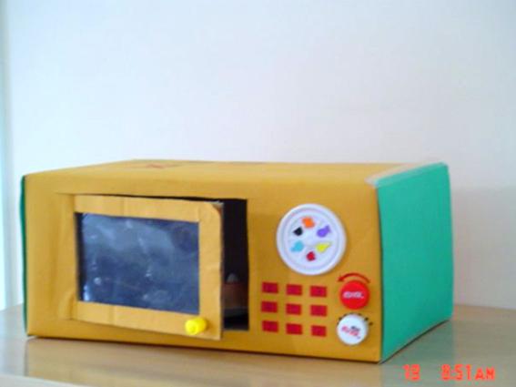 幼儿园教学教具_幼儿园玩教具制作:微波炉-- 分类导航 - 浙江学前教育网