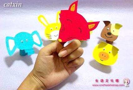幼儿教师自制玩教具:手指小动物