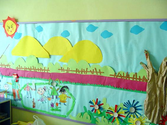 幼儿园主题墙布置 快乐的我们