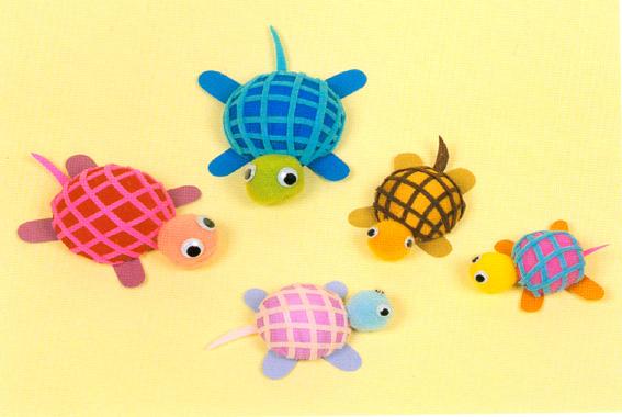 幼儿园 教具/幼儿园自制玩教具:乌龟/ 手工/ 图片 / 资