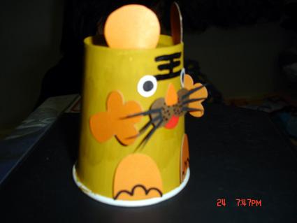 幼儿园 制作 小动物/幼儿园玩教具制作:纸杯小动物(图)...