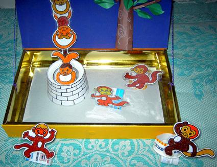 纸盒手工做猴子步骤