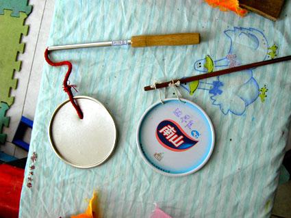 幼儿园自制玩教具:简易打击乐器