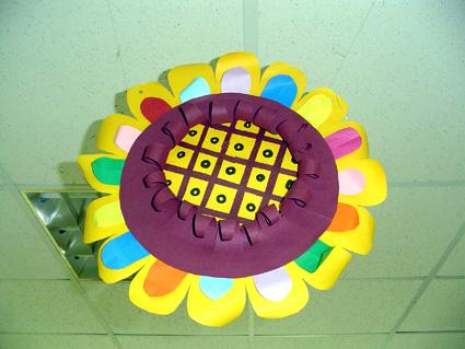 幼儿教师手工制作:向日葵