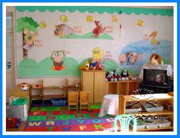 幼儿园环境布置:娃娃家10