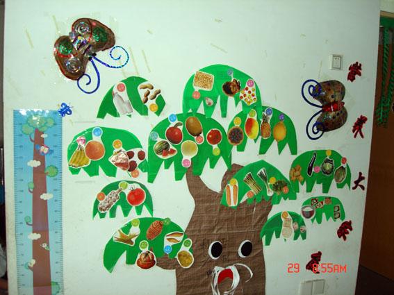 许愿树 圣诞树           废旧物手工制作 :大树风采秀    幼儿园的