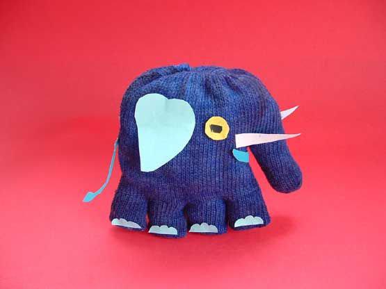 幼儿园手工制作:手套做的小动物