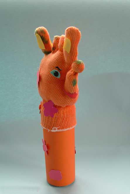 幼儿园手工制作:手套做的小动物1