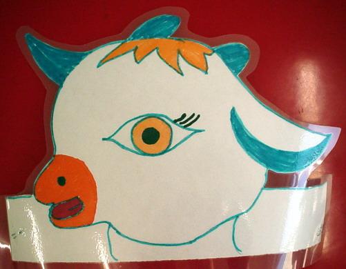 幼儿园玩教具制作:小羊头饰
