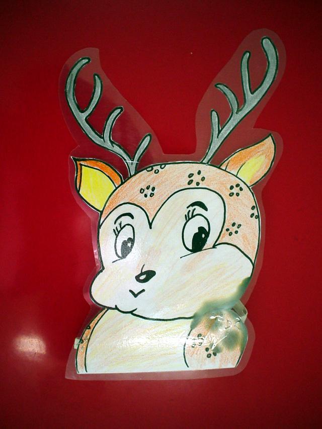 幼儿园玩教具制作:小鹿头饰