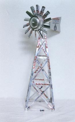 幼儿园自制玩教具:易拉罐风车图片