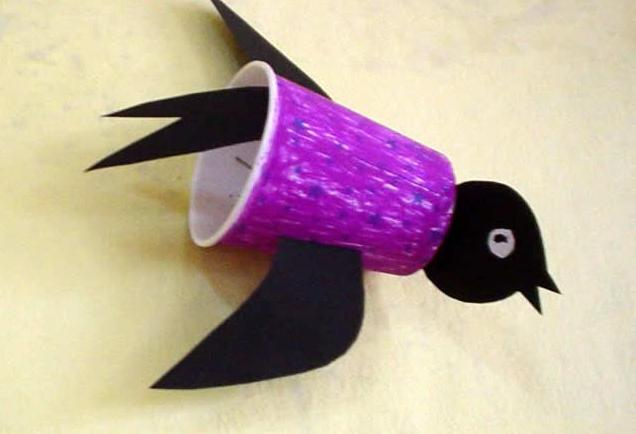 幼兒園手工制作:紙杯燕子