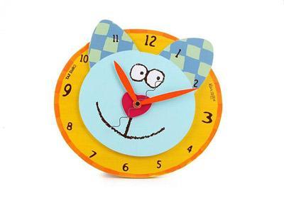 幼儿园玩教具制作:纸工钟表-手工-图片- 资源下载