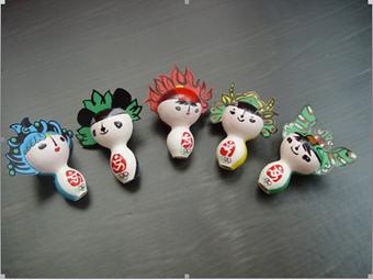 幼儿园玩教具制作:手偶福娃(葫芦作品)