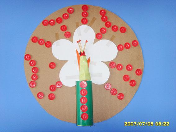 幼儿园自制玩教具:小孔雀